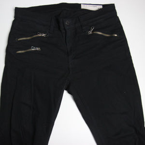 Rag & Bone Womens Skinny Jeans 28 Zippers